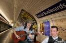 Paulina i Robert w paryskim metrze