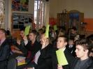 Spotkanie uczni�w z pabianickimi politykami.