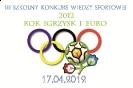 17.04.2012 konkurs wiedzy o historii sportu.